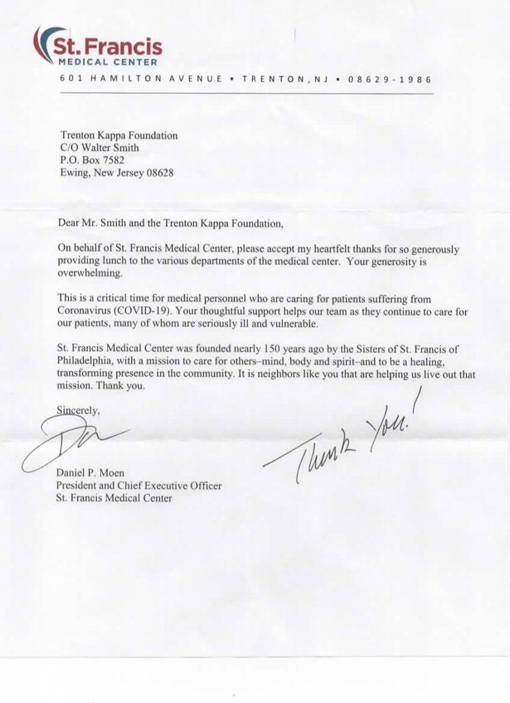 St. Francis Medical Center Donation